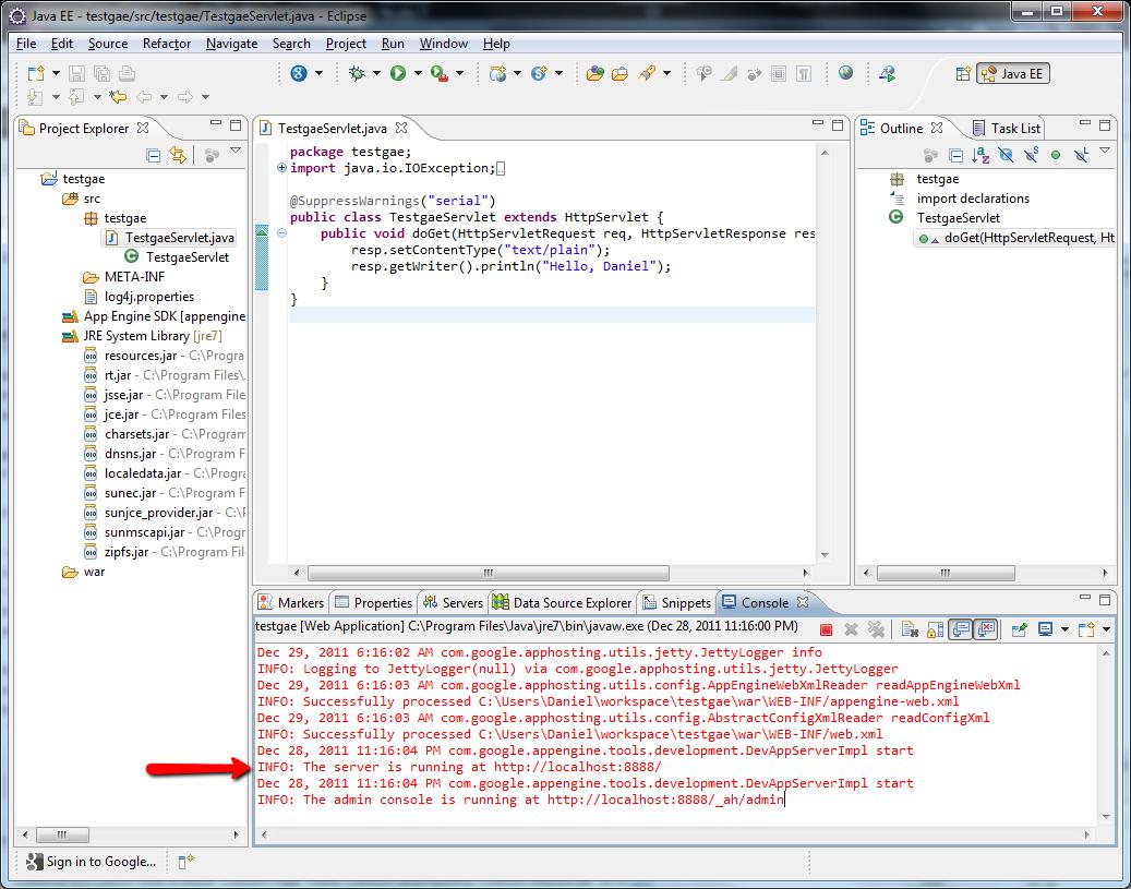WordPress plugin licensing: Setup Eclipse for Google App Engine development