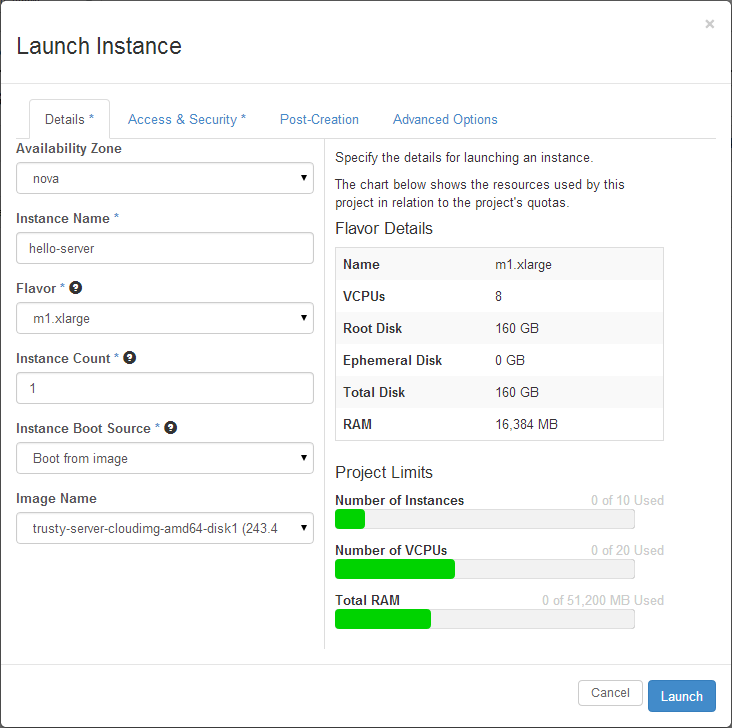 openstack-launch-instance-details